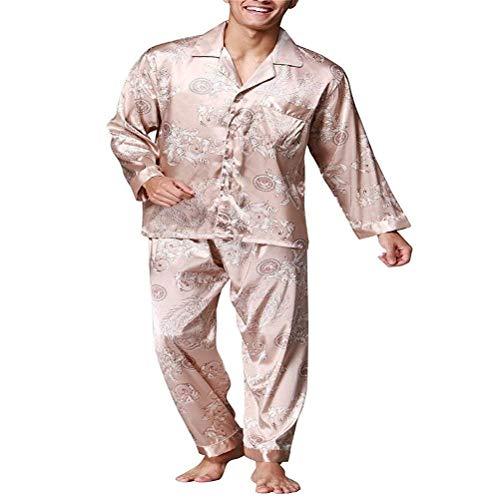 Coffee Marca Uomo Negligee Estate Accogliente Da Lungo Di Sleepwear Piece Mode Bathing Leggero Momme Two Casa Set Loungewear Pigiama Primavera OHxg5aqww