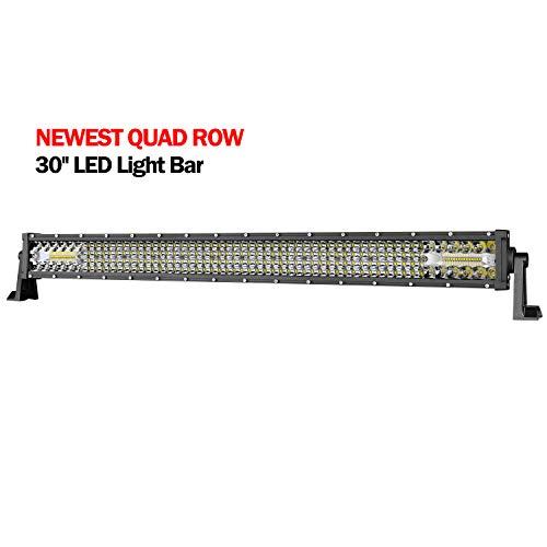 (LED Light Bar, AKD Part 30 Inch 230w LED Work Light Off Road Driving Lights Spot Flood Combo Led Bar Super Bright Led Fog Light for Trucks Jeep ATV UTV SUV Pickup Boat, 2 Years Warranty)