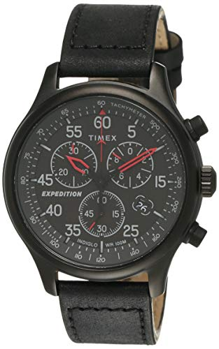 TIMEX Expedition Field Chronograph Analog Black Dial Men #39;s Watch TW2T73000