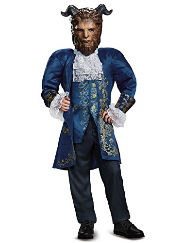 Beast Deluxe Movie Costume, Blue, Large (10-12) -