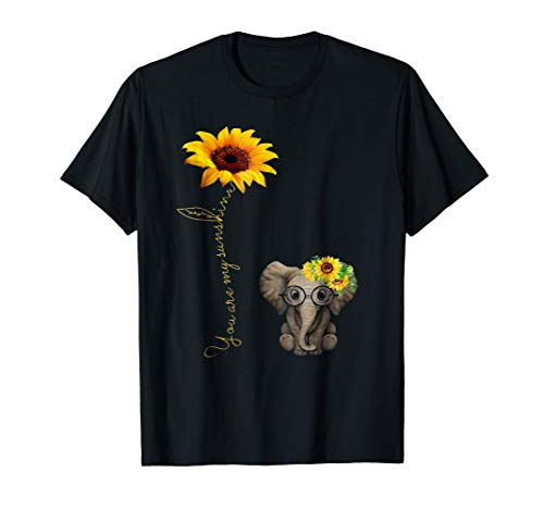 - You Are My Sunshine Hippie Sunflower Elephant Shirt