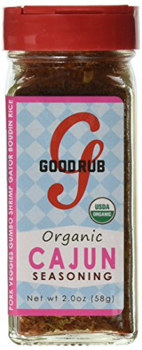 Good Rub Organic Seasonings, Cajun and Mexican, 2 Ounce, 2 Count