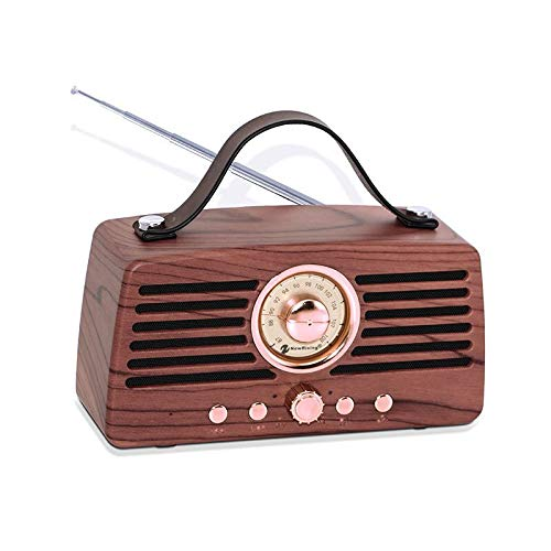Antique Radio and Vintage Style Bluetooth Speaker, FM Radio, Built-in Mic, 3.5 mm Audio Jack, Support TF Card/Micro SD Card and USB Lnput, up - Tabletop Digital Music Controller
