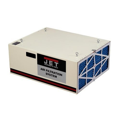 JET 708620B AFS-1000B 550/702/1044 CFM 3-Speed Air Filtration System with Remote and Electrostatic Pre-Filter by Jet