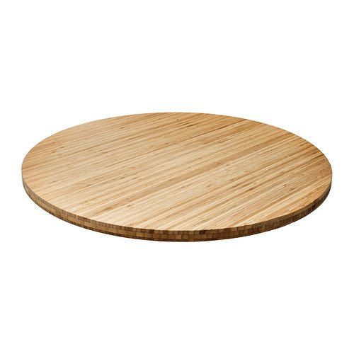 Ikea Large Lazy Susan Solid Baboo Rotating Turntable Serving Plate
