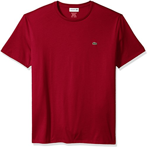 Lacoste Men's Short Sleeve Crew Neck Pima Cotton Jersey T-Shirt, Bordeaux, 4X-Large ()