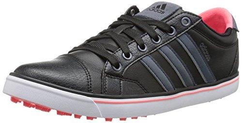 adidas Women's W Adicross IV Golf Shoe, Black/Onix/Flash Red, 10 M US