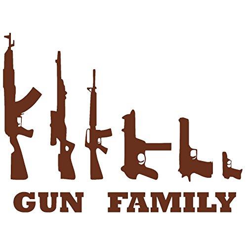 GUN FAMILY Vinyl Sticker Decal (Merlot, 5