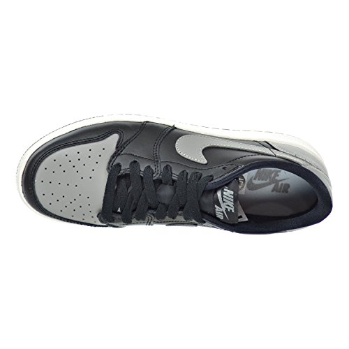 Jordan Air 1 Retro Low OG BG Big Kids Shoes Black/Medium Grey-Sail 709999-003 Black/Medium Grey-sail