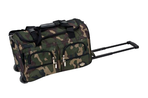 Rockland Luggage Rolling 22 Inch Duffle Bag, Camouflage, One Size (Kiss Rock And Roll All Night Long)