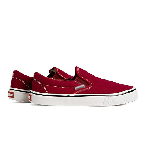 un pigre casual battere piatte bassa strada da pedale tela WFL bianche per di scarpe uomo scarpe primavera Scarpe scarpe aiutare le scarpe Rosso ygRZRUf