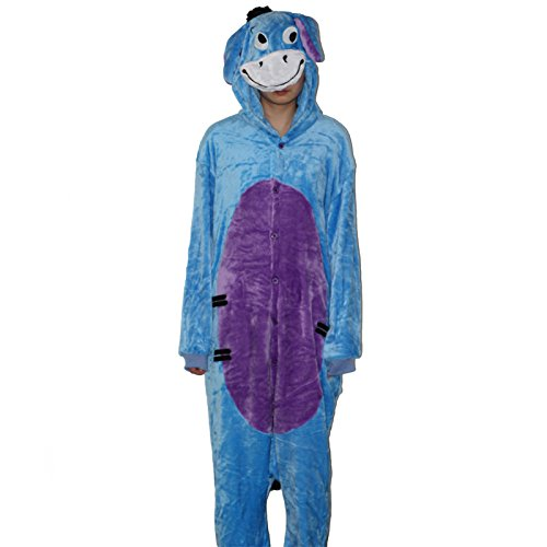 Sexy Panda Bear (Flannel christmas pajamas Adult Unisex Pajamas Cartoon giraffe bear panda eeyore Animal Halloween Cosplay Costume Hoodie Onesie Sleepwear (M, eeyore))