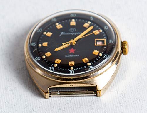 1970s Vintage USSR Watch vostok komandirskie Military Russian Commander Заказ МО Komandirskiye Golden Color Red Star