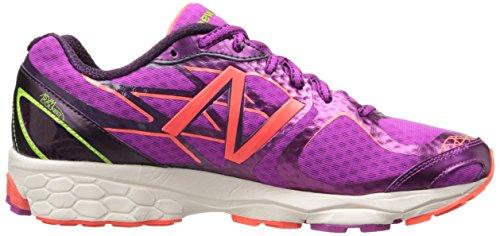 New Balance W1080 - Zapatillas de running de material sintético para mujer lila / neonorange Violeta - Violett (PY4 PURPLE/YELLOW)