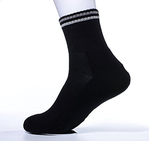 2 Pairs High Performance Men's Breathability Leisure Sport Socks, Black for cheap