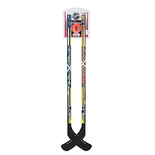 Franklin Sports Youth Street Hockey Starter Set - NHL Approved - Includes Two 37 Inch Hockey Sticks and One Street Hockey Ball