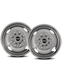"""Pacific Dualies 38-2608 16"""" Stainless Steel Wheel Simulator Front Tag-Axle Kit for 1974-2000 Chevy GMC 3500, 1974-1998..."""