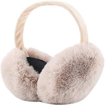Oorwarmers voor de winter casual winter opvouwbaar afneembaar wasbaar pluche oorbeschermers warme koudebescherming koude winteraccessoires outdoor oorschelpen