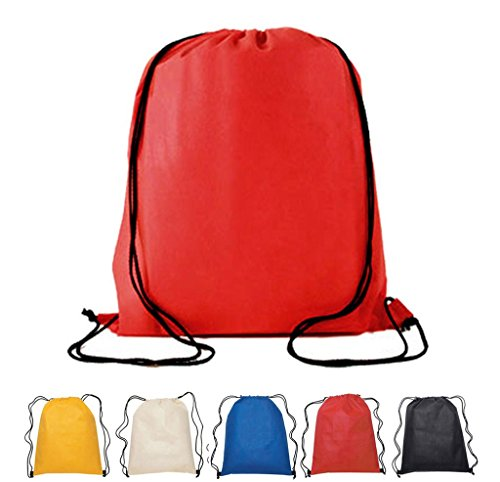 SHOPINUSA Buy Bulk Promotional Non-Woven Junior Drawstring Backpack Small Size(6pack) (Purple) - Junior Drawstring Backpack