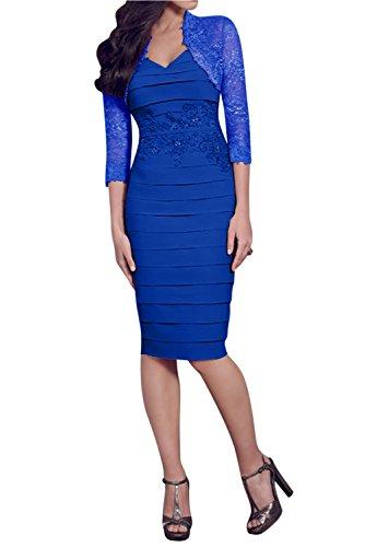 para Topkleider real mujer Vestido Estuche azul EqTq1Cwrx