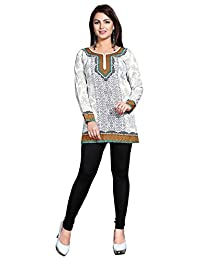 Maple Clothing Kurti Printed Short Tunic Top Womens Blouse Indian Clothes