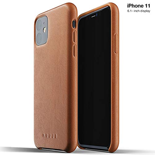 Mujjo Full Leather Case for Apple iPhone 11 | Premium Soft Supple Leather, Unique Natural Aging Effect | Leather Wrapped, Super Slim (Tan)