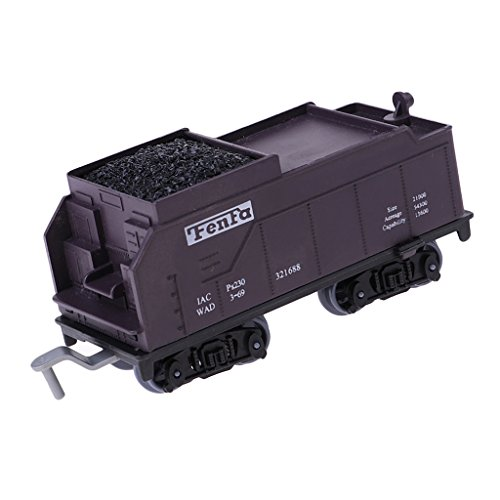 oal Train Model Cargo Carriage Removable HO Gauge Home Decoration ()