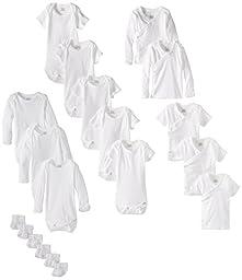 Gerber Unisex Newborn Essentials Gift Set, White, 0-3 Months, 19 Piece