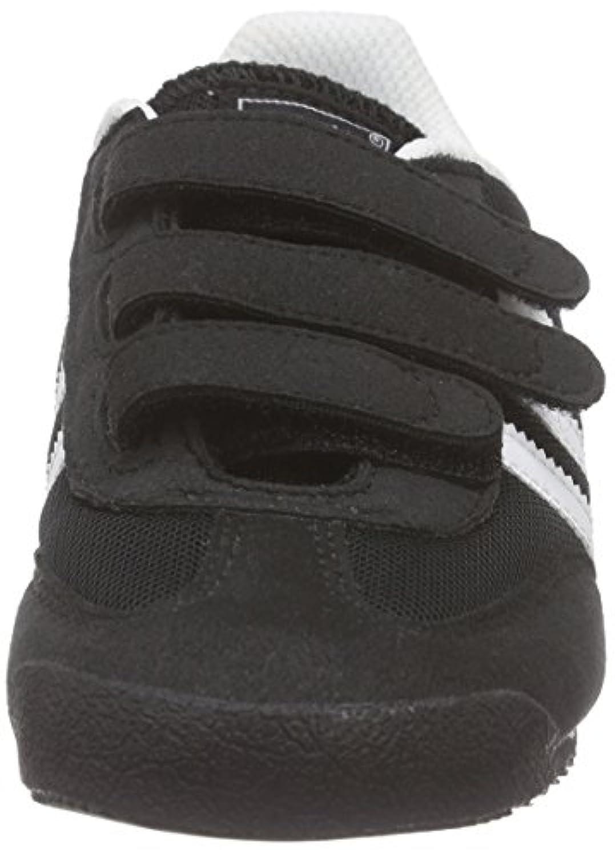 Adidas Dragon Cf, Unisex Kids Low-Top Sneakers, Black (Core Black/White/Core Black), 1 UK (33 EU)