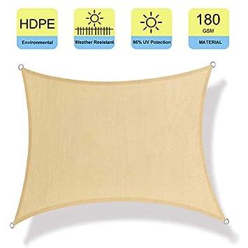 Patio Watcher 12 x 16 Sun Shade Sail Rectangle Canopy UV Block Perfect for Patio Outdoor Garden Sand