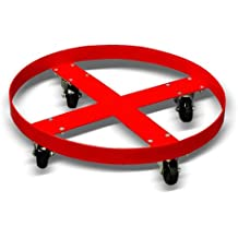 Giant Move Plastic Drum Dolly for 55 and 30 Gallon Drums, 900 lbs Capacity