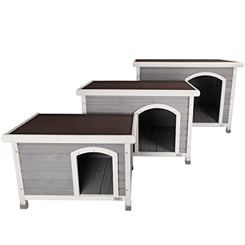 Petsfit-337-X-226-X-229-Inches-Wooden-Dog-Houses-Dog-House-Outdoor-Gray-For-Small-Dog