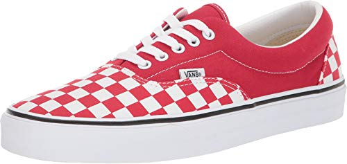 Vans Mens U ERA Racing RED True White Size 9 (Red Vans Shoes Men)