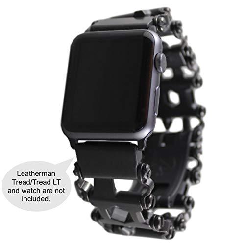 BestTechTool watch adapter compatible with LEATHERMAN TREAD - BTT adapter (compatible with Apple watch 42mm, BLACK, TREAD)