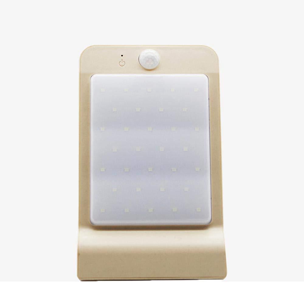 Hongge Solarlampen für außen,Wasserdichte Outdoor LED Solar intelligent Sensor Lampe Haushaltsbeleuchtung Wandleuchte Light 3 Stück