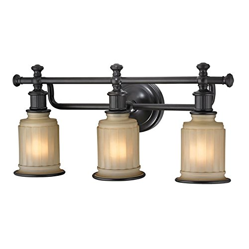 Acadia 1 Light Wall Fixture (Elk Lighting 52012/3 Acadia Collection 3 Bath Light, Oil Rubbed Bronze)