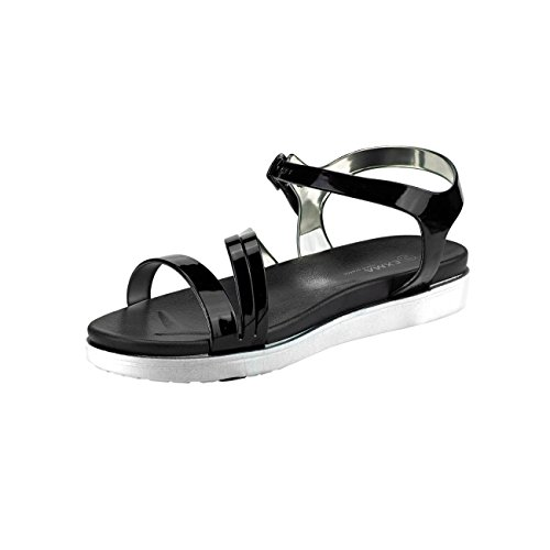 De Sandales Féminine Sandales 10 Noir Multicolore Fashion4young Mode De Rose 7Expq644