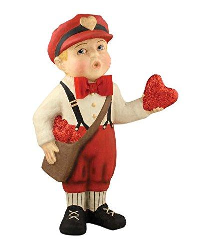 Bethany Lowe Large Valentine's Day Retro Messenger Boy Figure 16.5''