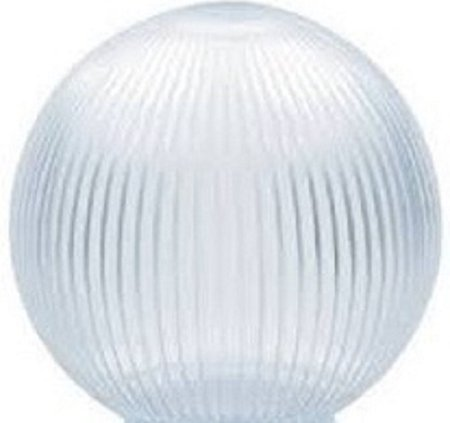 Prismatic Globe Patio Lights - Clear Acrylic Prismatic 8 Inch Lamp Post Globe with 3.50 Inch Opening