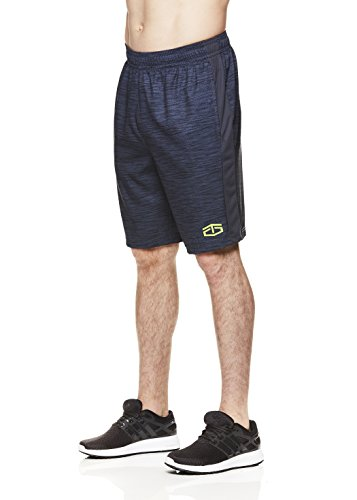 10ca23a06d697 TapouT Men's Power Training Lightweight Workout Gym & Running Shorts w  Pockets - Ebony Power,