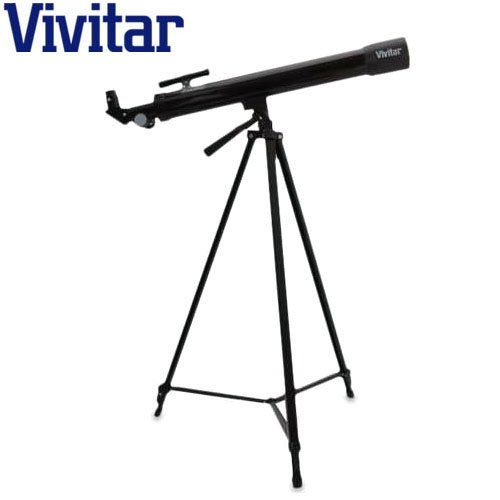 Vivitar 75x/150x Refractor Telescope with Full-Sized Adjustable Tripod - Great Beginner Telescope by Vivitar