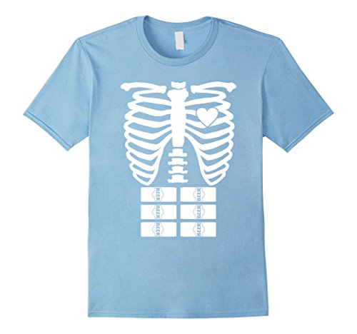 Mens X-Ray Skeleton Beer Shirt - Halloween Rib Cage Costume Gift XL Baby (Baby Carrying Man Halloween Costume)