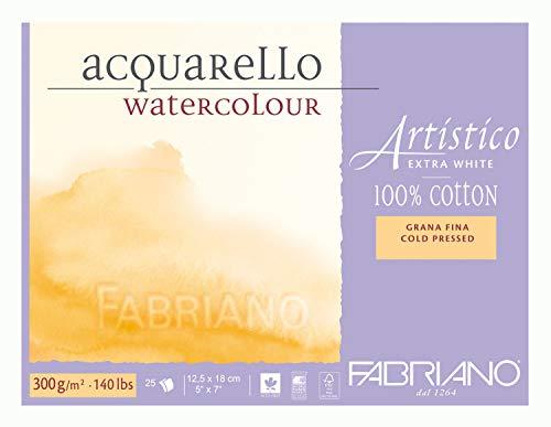 Fabriano Fab Artistico Xwht Block 140Lb Cp, 25Sht, Extra...