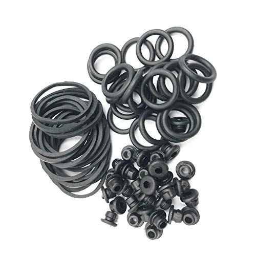 EZTAT2 300 Pcs Soft Rubber Bands Tattoo Machine Grommets Nipples Rotary Cartridge Machine Supply ()