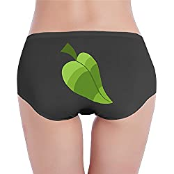 Leaf Hydruc Black Woman's Low-waist Invisible Hipster Seamless Underwear Briefs S