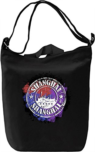 Shanghai Sign Borsa Giornaliera Canvas Canvas Day Bag| 100% Premium Cotton Canvas| DTG Printing|