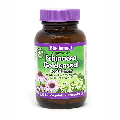 BlueBonnet Echinacea Goldenseal Root Extract Supplement, 60 Count ()