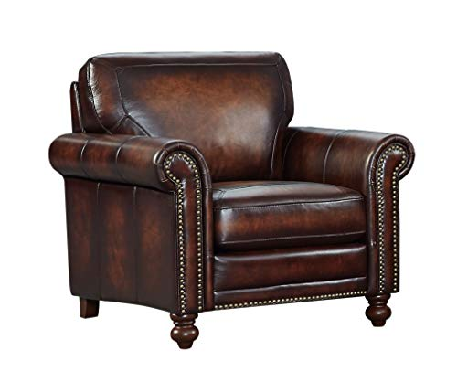 Oliver Pierce OP0079 Grayson Leather Club Chair Brown ()