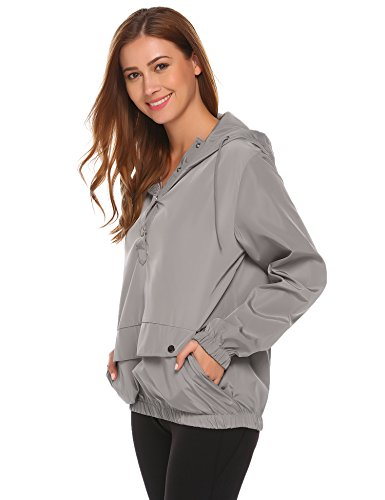 SummerRio Women's Long Sleeve Hoodies Pullover Button Patchwork Sweatshirt Jacket by SummerRio (Image #5)