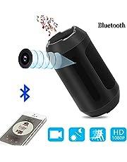 Cámara Espía,1080p Bocina Bluetooth Cámara Oculta Nanny Cam Security Para el Hogar y la Oficina con Detección de Movimiento, Visión Nocturna